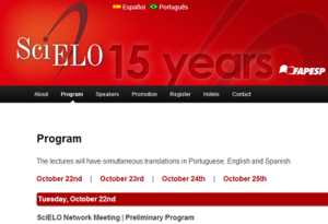 SciELO 15 Years Conference Program