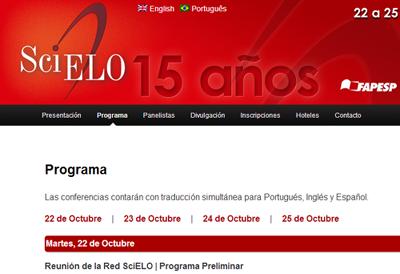Programa de la Conferencia SciELO 15 Años