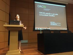 Lilian Pessoa habló acerca de ORCID. (Foto: SciELO)