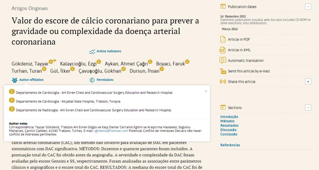 """Imagem: Exemplo de artigo produzido com o """"SciELO Publishing Schema"""""""