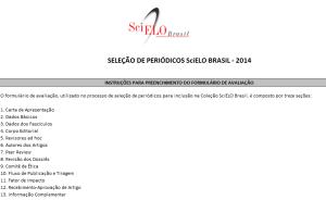 Formulário de avaliação SciELO Brasil