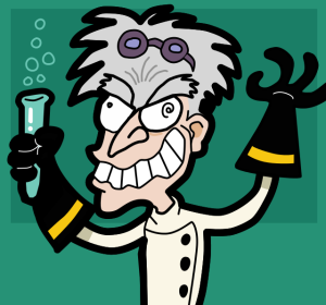 """""""Mad scientist"""". Licenciado sob CC BY-SA 3.0 via Wikimedia Commons."""