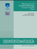 Capa do periódico Odontoestomatología